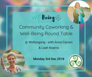 We-Being community co-working 3 Dec