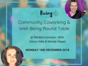 We-Being co-working 10th December 10am